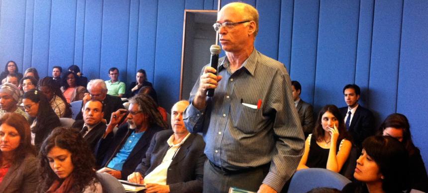Rubens Born, do FBOMS – Fórum Brasileiro de ONGs e Movimentos Sociais para o Meio Ambiente.