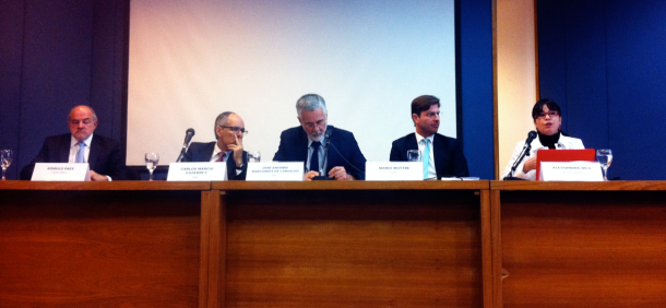 Rômulo Paes, do Centro Rio+, Embaixador Cozendey, Embaixador Marcondes, Conselheiro Mário Mottin e Alessandra Nilo da Gestos e Abong.