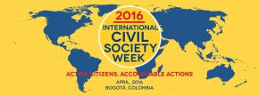 Abong promoverá agenda de atividades da agenda 2030 durante a International Civil Society Week 2016, emBogotá