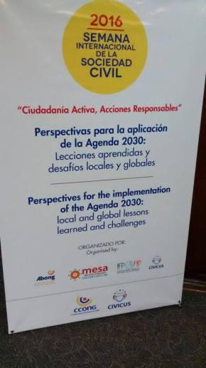 Abong debate implementação da Agenda 2030 durante International Civil Society Week 2016, emBogotá
